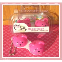 Kawaii Animal Series 1 Capsule Contact Lense Case! - Pink Bear
