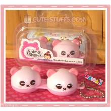 Kawaii Animal Series 2 Capsule Contact Lense Case! - Pink Bear