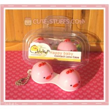 Kawaii Animal Series 1 Capsule Contact Lense Case! - Pink Chicken