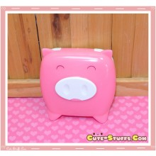 Kawaii Monokuro Boo Pig Contact Lens Case - Pink