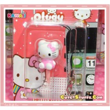 Kawaii Rare Flashing Pink Hello Kitty Dust Plug Phone Strap Charm