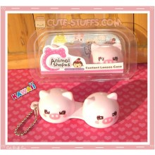 Kawaii Animal Series 2 Capsule Contact Lense Case! - Pink Pig