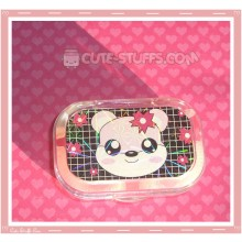 Kawaii Sparkle Travel Lens Case or Trinket Box! - Panda Flowers