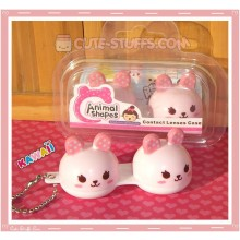 Kawaii Animal Series 2 Capsule Contact Lense Case! - Pink Bunny