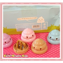 Kawaii Poo or Poop Pencil Sharpener - U Choose Color!