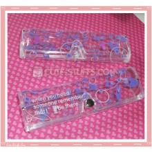 Kawaii Eyeglasses Case - Purple Flowers
