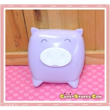 Kawaii Monokuro Boo Pig Contact Lens Case - Purple