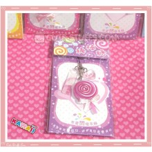 Kawaii Rare Flashing Lolli Pop Phone Charm! Grape!