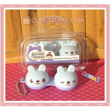 Kawaii Animal Series 2 Capsule Contact Lense Case! - Purple Bunny