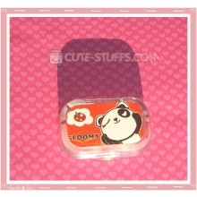 Kawaii Sparkle Travel Lens Case or Trinket Box! - Panda Wink