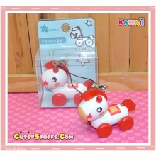 Kawaii Rilakkuma's Wood Pull Along Horse Red Phone Strap! Rare!
