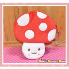Kawaii Plush Mushroom Coin Purse! Red