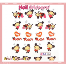 Rare Kawaii Nail Stickers! Pucca!