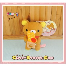 Large Rilakkuma Cafe Series Plush Groceries Keychain