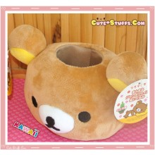 Kawaii San-X Rilakkuma Head Plush Desk Top Organizer