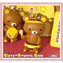 Kawaii Rilakkuma Meets Honey Series Keychain - Rilakkuma Bee w/ Spoon