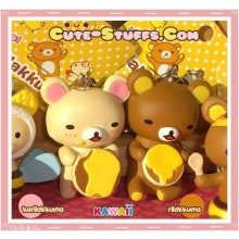 Kawaii Rilakkuma Meets Honey Series Keychain - Rilakkuma or Korilakkuma U Choose!