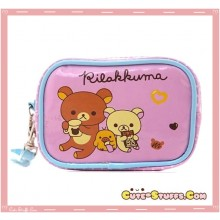Kawaii Rilakkuma & Korilakkuma PU Leather Carry Bag! Chocolate!