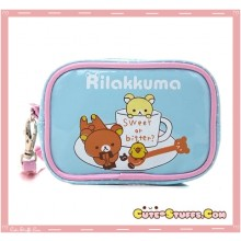 Kawaii Rilakkuma & Korilakkuma PU Leather Carry Bag! Sweet & Bitter!