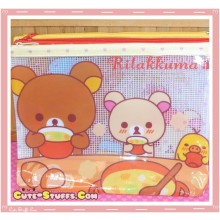 Kawaii Large Rilakkuma Cafe French Bread PVC Mesh Pouch
