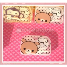 Kawaii Translucent Travel Lens Case or Trinket Box! - Rilakkuma Bear
