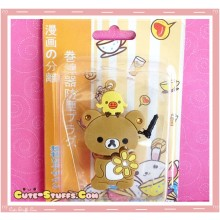 Kawaii 3 In 1 Cord Winder Dust Plug Charm Strap Set! Rilakkuma