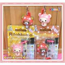 Kawaii Flashing Rilakkuma or Korilakkuma Mushroom dust Plug! U Choose