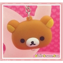 Kawaii Unique  Rilakkuma Head Light Keychain!