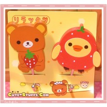 Kawaii Large Rilakkuma w/ Kiiroitori Wood Hook Set