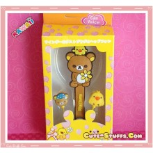 Kawaii 4 In 1 Rilakkuma Headphones + Mic + Dust Plug + Cord Winder Set!