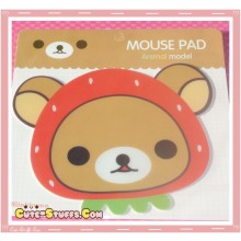 Kawaii Rilakkuma Mousepad - Strawberry Hat