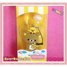 Kawaii 3 In 1 Rilakkuma Headphones + Dust Plug + Cord Winder Set!