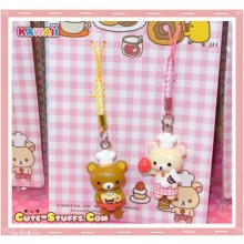Rare Kawaii Rilakkuma Cafe w/ Korilakkuma Singapore Series Charm Set! Latte
