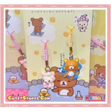 Kawaii Rilakkuma w/ Korilakkuma Singapore Series Strap Set! Cape