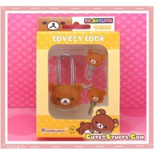 Kawaii Rare Discontinued Medium Lock & Matching Keys - Rilakkuma!