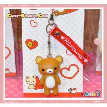 Kawaii Rilakkuma Heart Series Phone Charm w/ Translucent Strap!