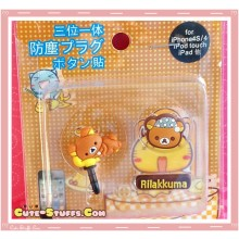 Kawaii Ipod Iphone Ipad Dust Plug Set Data Sleepy Rilakkuma