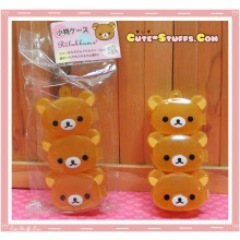 Kawaii 3PC Mini Stackable Rilakkuma Pill or Trinket Box