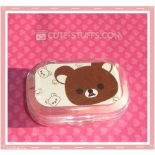 Kawaii Sparkle Travel Lens Case or Trinket Box! - Rilakkuma Face