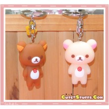 Kawaii Rilakkuma or Korilakkuma Keychain - U Choose!