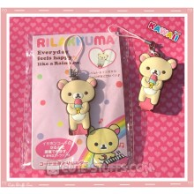 Kawaii San-x Cord Winder w/ Button Strap! Korilakkuma Ice Cream
