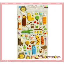 Kawaii Embossed Puffy Animal Sticker Set! Rare!