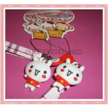 Kawaii Unique Bunny Phone Strap w/ Wrist Strap!