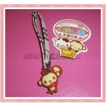 Kawaii Unique Monkey w/ Heart Phone Strap w/ Wrist Strap!