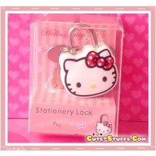 Hello Kitty Red Polka Dot Kawaii Diary Lock & Keys!