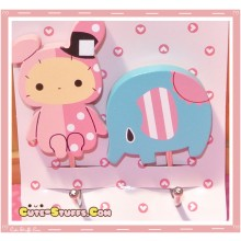 Kawaii Large Sentimental Circus Shappo w/ Mouton Wood Hook Set