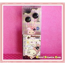 Rare Kawaii Sentimental Circus Shappo Licensed Earphones! Black