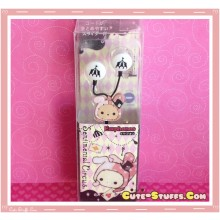 Rare Kawaii Sentimental Circus Shappo Licensed Earphones! White
