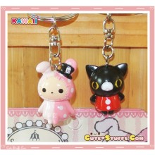 Kawaii Sentimental Circus Key Chain Set Duo - Shappo & Curo
