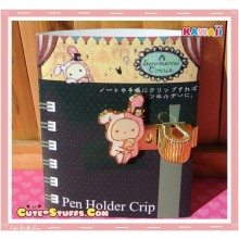 Kawaii San-X Sentimental Circus Shappo Gold Plated Pen Holder Clip